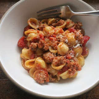 Orecchiette with Sweet Sausage Bolognese