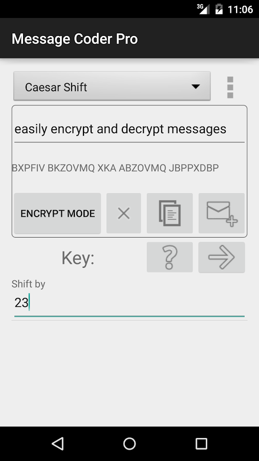 Message Coder Pro- screenshot