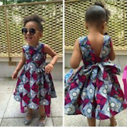 Bazin Kids Fashion Dresses.