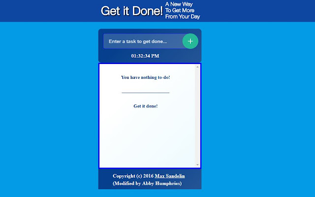 Get it Done! To-Do-List
