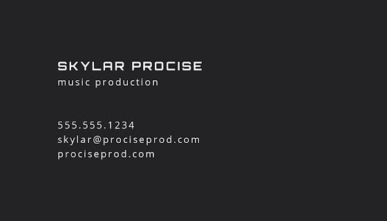 Procise Production Front - Business Card Template