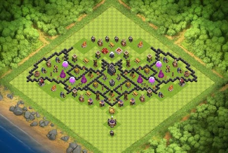 Maps COC TH 9 War Base - náhled