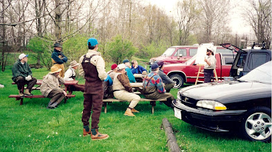 """Photo: TBT- Brian teaching an """"On-River Seminar"""" on the Mad River out of his old blue toyota pickup. This throws back to 1992 or so."""