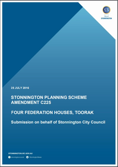 STONNINGTON PLANNING SCHEME: AMENDMENT C225