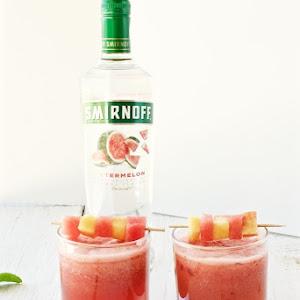 Watermelon and Peach Cocktail