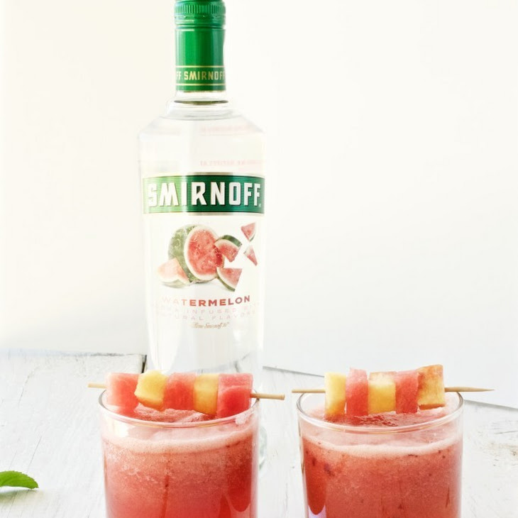 Watermelon and Peach Cocktail Recipe