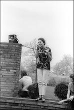 Photo: KSU graduate students organized the noon rally on May 1, 1970.