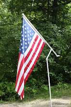 Photo: Camper's flag pole at Stillwater State Park