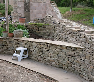 Cotswold Dry Stone Wall in Forest of Dean