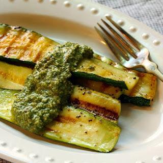 Mint Walnut Pesto For Grilled Vegetables Or Pasta