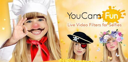 YouCam Fun - Filtres selfie live et partage photos