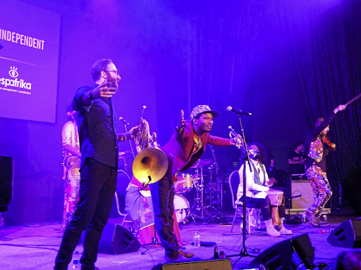 Stage of life: The 2017 alumni of the residency programme organised by OneBeat, in collaboration with Found Sound Nation, formed The Surge, which performed at the recent Cape Town International Jazz Festival. The programme provides a space for artists to collaborate and connect. Picture: STRAUN DOUGLAS