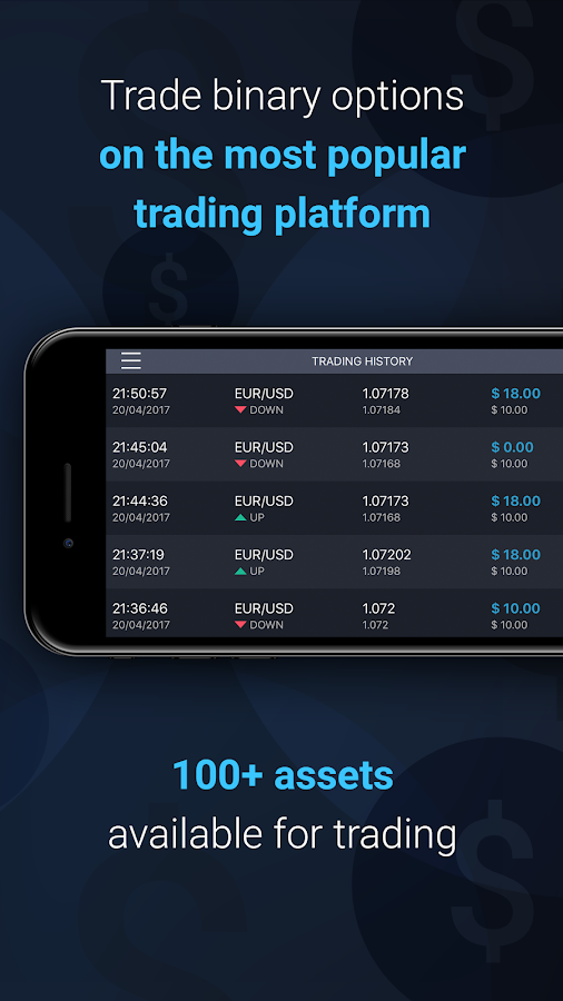 Binarymate trading app- screenshot
