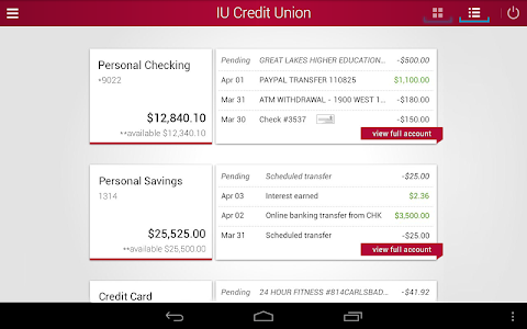 IU Credit Union Mobile Banking screenshot 5