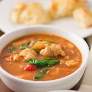 Crockpot Tuscan Soup.