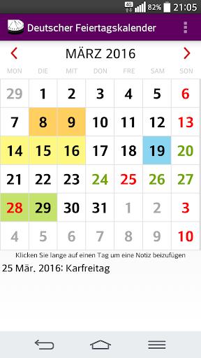 2016 Deutscher Kalender NoAds
