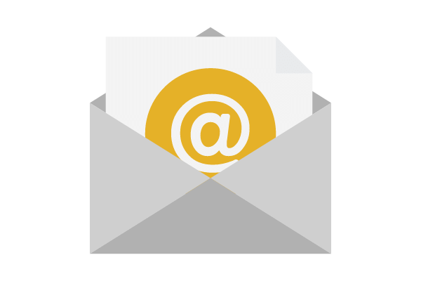 Gold email icon