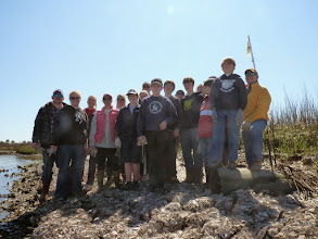 Photo: Mason Prep students with completed reef 2013