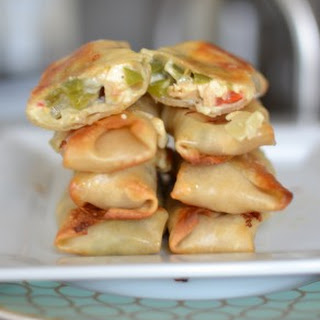 Pepper Jack & Chicken Egg Rolls