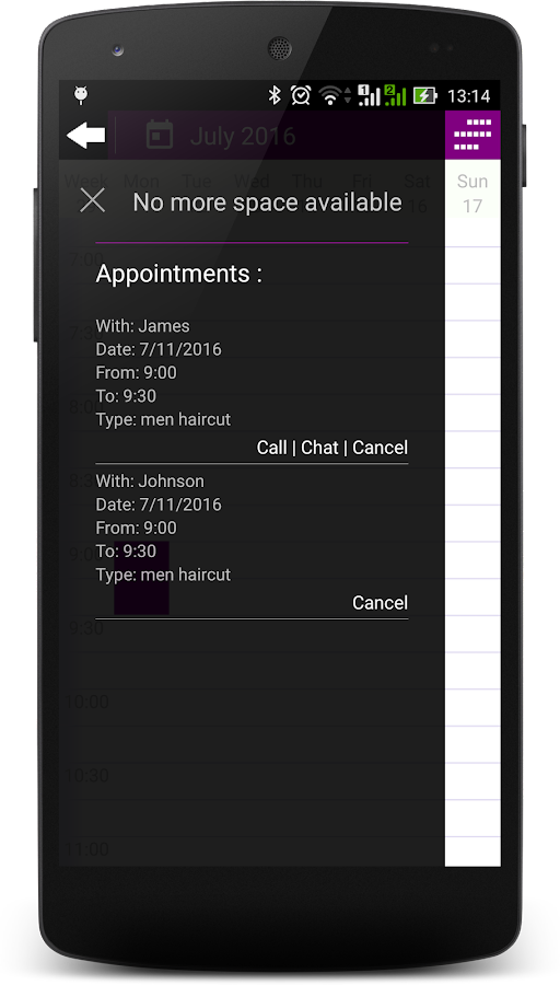 AM - Appointment manager- screenshot