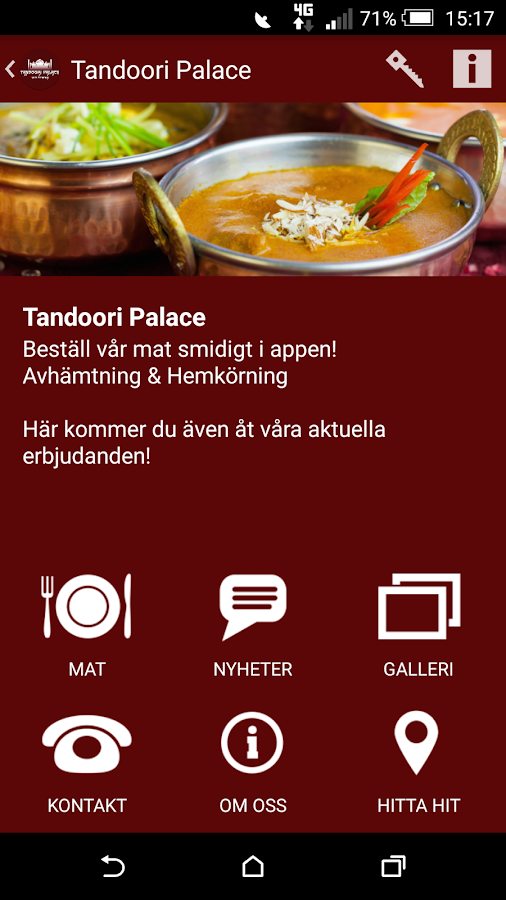 Tandoori Palace- screenshot