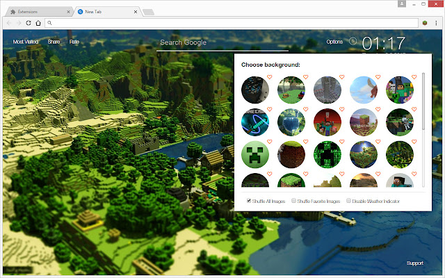 Minecraft Wallpapers HD New Tab Themes - Chrome Web Store
