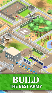 Idle Army Base (MOD, Free Shopping) APK for Android 1