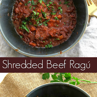 Slow Cooker Shredded Beef Ragú or What to do with Cheap Beef Cubes.