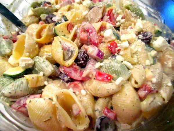 ~ Awesome Greek Pasta Salad ~ Cassies Recipe