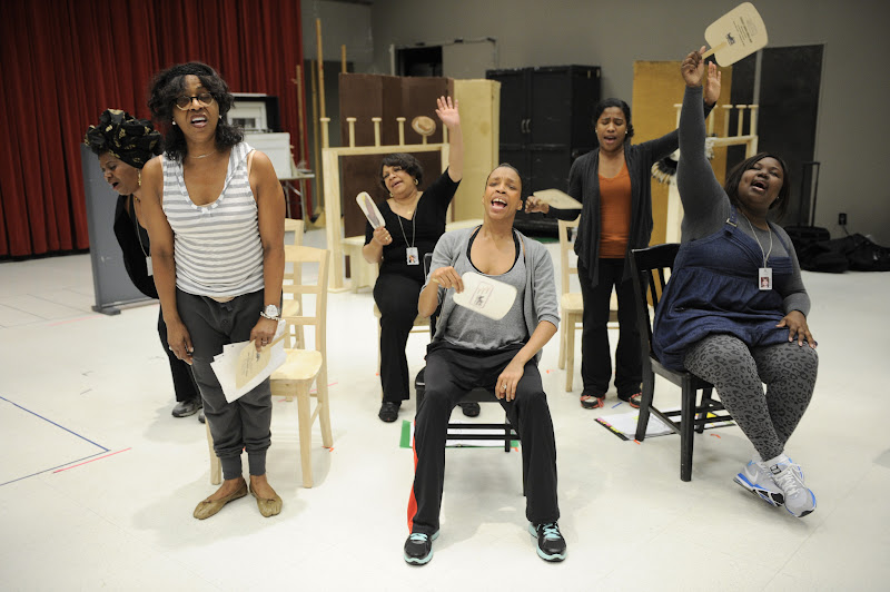 Photo: Cast members rehearse Regina Taylor's 10th anniversary production of Crowns at Goodman Theatre (June 30 – August 5).