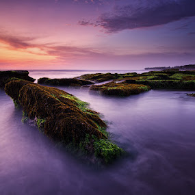 Serene Dusk In Lima Beach by Eggy Sayoga - Landscapes Sunsets & Sunrises ( bali, pantai, indonesia, sunset, d7000, beach, landscape, nikon, tokina, filter )