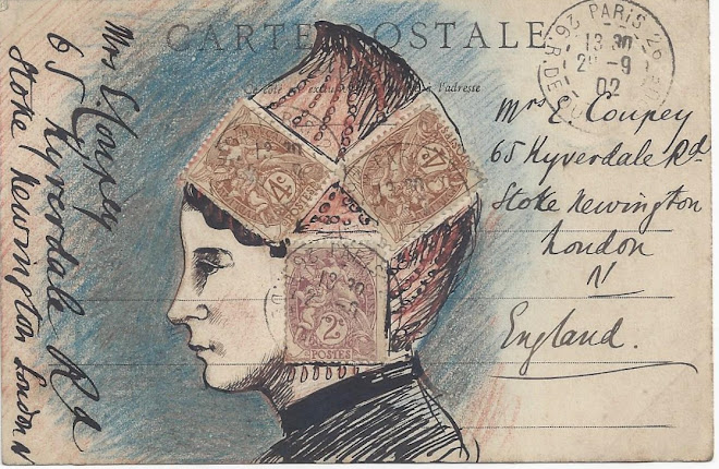 <p> <strong>L&eacute;on Coupey<br /> To Mme E. [Corinne] Coupey (London</strong>)<br /> Ink &amp; crayon on card<br /> 3 &frac12;&quot; x&nbsp;5 &frac12;&quot;&nbsp;<br /> 1902</p> <p> Collection Mark &amp; Carol Smith, Auckland, New Zealand &nbsp;</p>