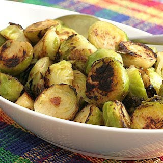 Fast Pan-Roasted Brussels Sprouts ♥ Recipe