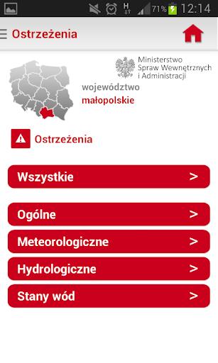 Regionalny System Ostrzegania screenshot 3