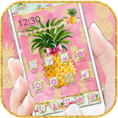 Flamingo Pineapple Fruit Theme