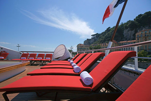 Ponant-Leboreal-deck-chair.jpg - Enjoy deck time on Le Boreal, a Ponant Yacht Cruise.