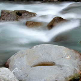 mystic waters by Sovit Arun - Landscapes Waterscapes ( mystic, long exposure, river, water, stone )