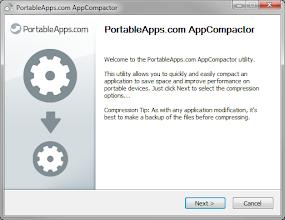 Photo: Even the PortableApps.com AppCompactor got a redesign