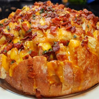 Cheddar Bacon Ranch Pull Bread.