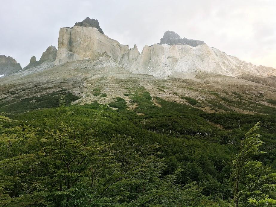 View of Los Cuernos from Valle del Frances