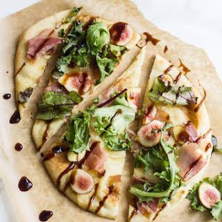 Brie, Fig & Prosciutto Pizza.