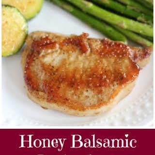 Honey Balsamic Baked Pork Chops.