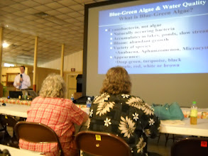 Photo: Mike Shelton from the ODNR give a presentation on Algae & Water Quality Issues
