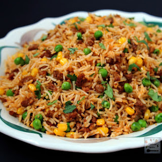 Easy Chorizo Fried Rice.