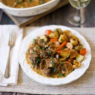 Deer Valley Veal Wild Mushroom Stew.