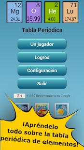 imagen de la captura de pantalla - Tabla Periodica Juegos Didacticos