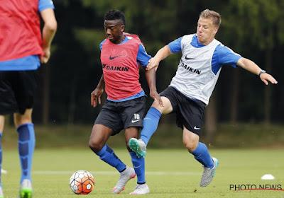 Dylan Seys (huurling Club Brugge) raakte geblesseerd op training