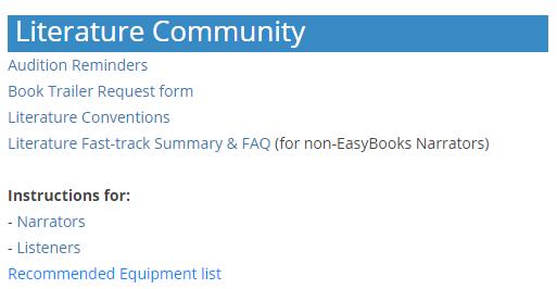 Image of Lit Community list of links