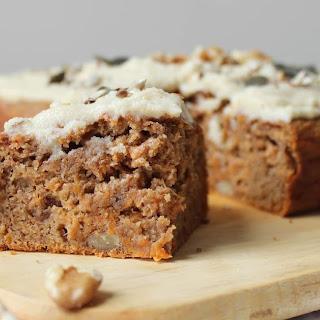 Spelt Vegan Carrot Cake with Cashew Frosting