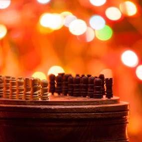 Chess by Naveen Rai - Artistic Objects Other Objects ( chess, bokeh )